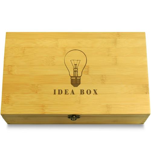 Electric Light Bulb Idea Organizer Chest Lid