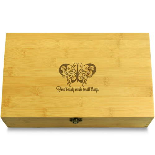 Beauty in Small Butterfly Chest Lid