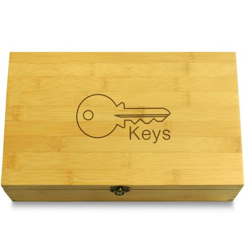 Modern Key Organizer Wooden Chest Lid
