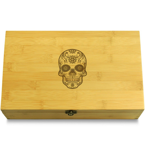 Sugar Skull from Mexico Organizer Chest Lid