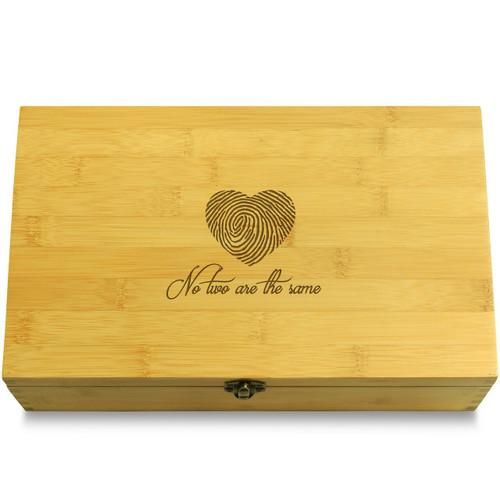 Heart Fingerprint Love Multikeep Box Bamboo Organizer