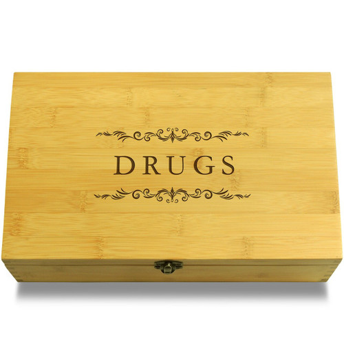 Drugs Filigree Wood Chest Lid