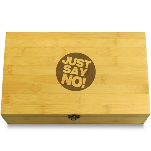 Just Say No! Wooden Box Lid