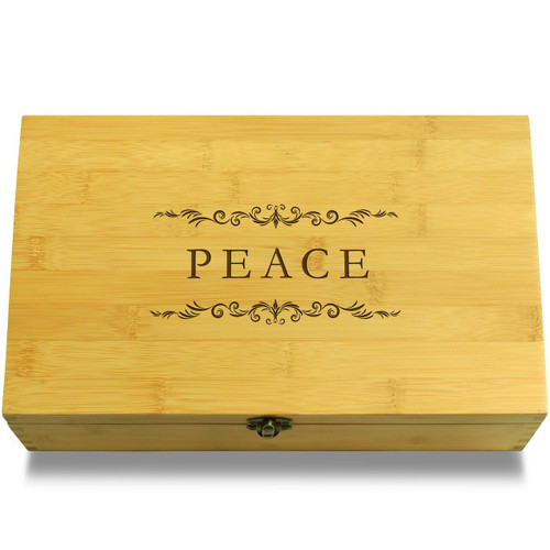Peace Filigree Organizer Box Lid