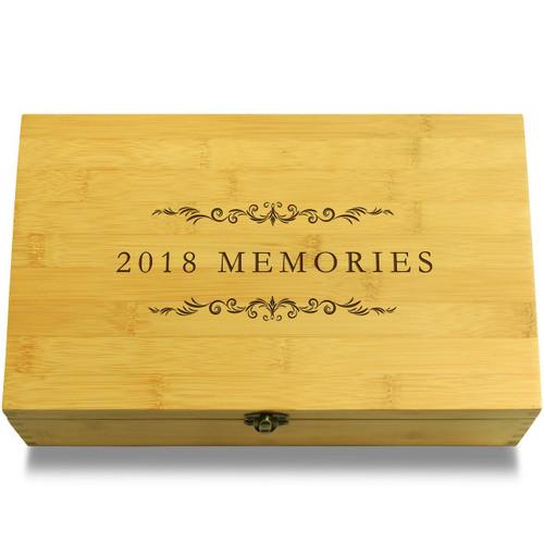 2018 Memories Filigree Wooden Chest Lid