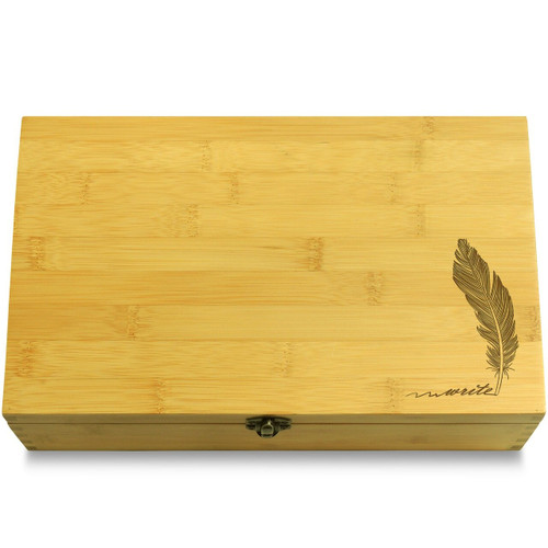Feather Wood Chest Lid