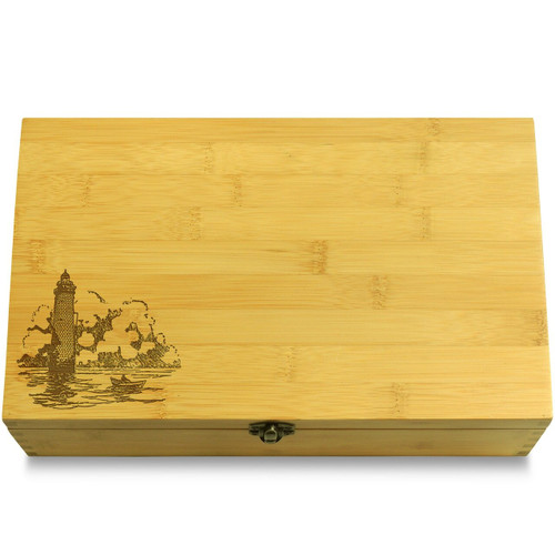 Lighthouse Seaside Multikeep Box Wooden Chest