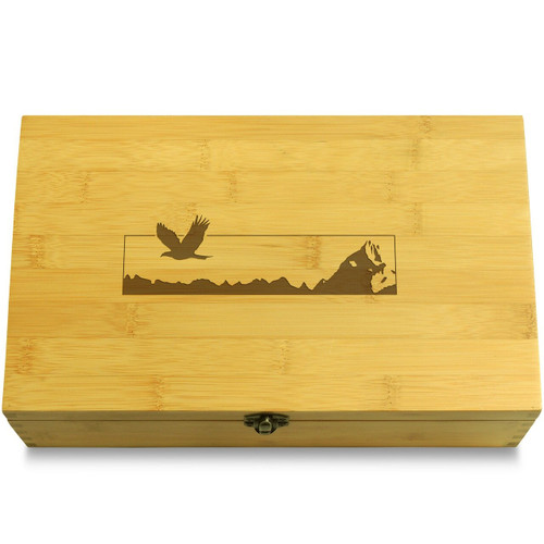 Mountain Eagle Wooden Box Lid