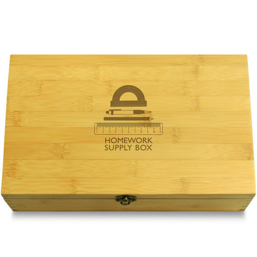 Homework Supplies Box Lid