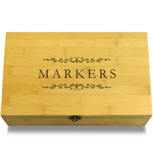 Markers Filigree Wooden Box Lid