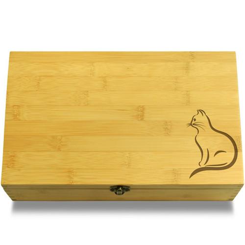 Cat Calligraphy Organizer Lid