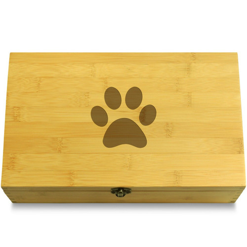 Cat Footprint Wooden Box Lid