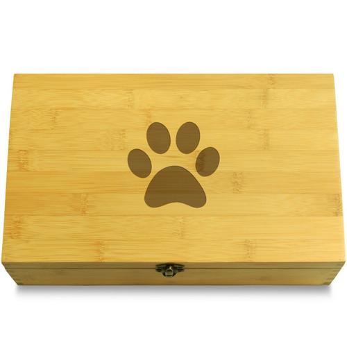 Cat Footprint Wooden Box Lid