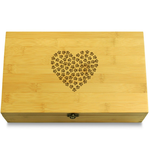 Dog Print Heart Organizer Box Lid