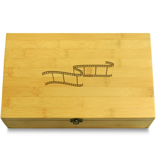 Filmstrip, film cannisters Wooden Box Lid