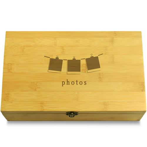 Polaroids Wood Chest Lid