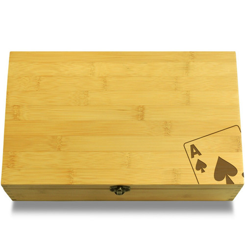 Angled Ace Wooden Chest Lid