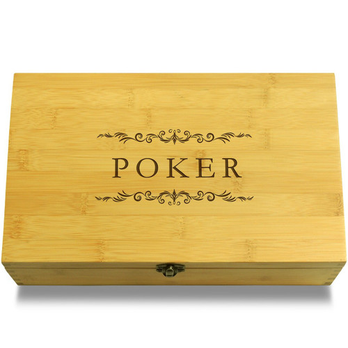Poker Filigree Organizer Chest Lid