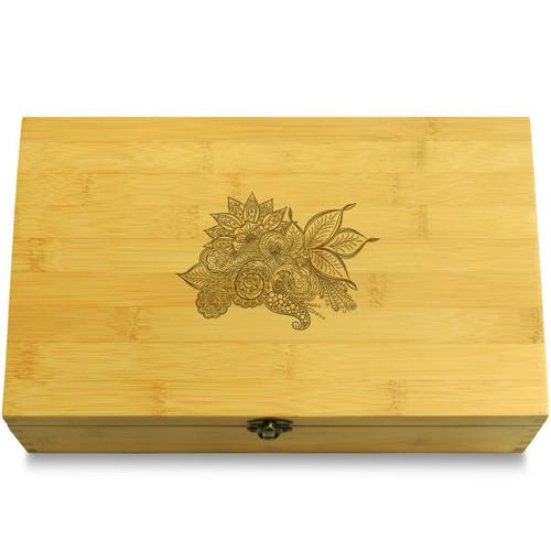 Ornate Mandala Wooden Chest Lid