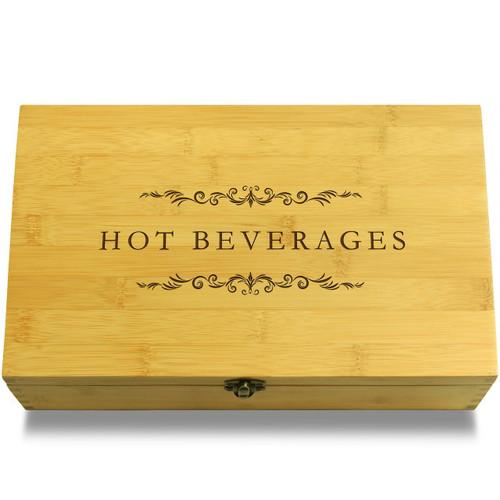 Hot Beverages Filigree Wood Chest Lid
