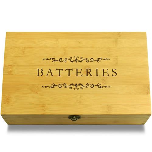Batteries Wooden Box Lid