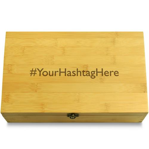 Custom Hashtag Multikeep Box Bamboo Chest