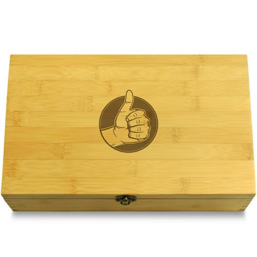 Thumbs Up Symbol Wooden Box Lid