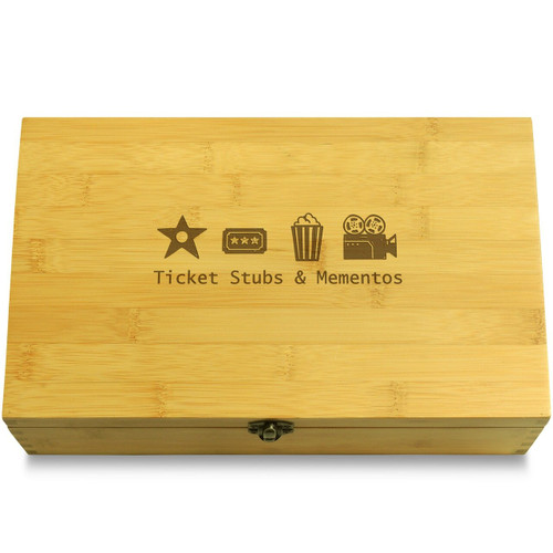 Movie Mementos Wooden Box Lid