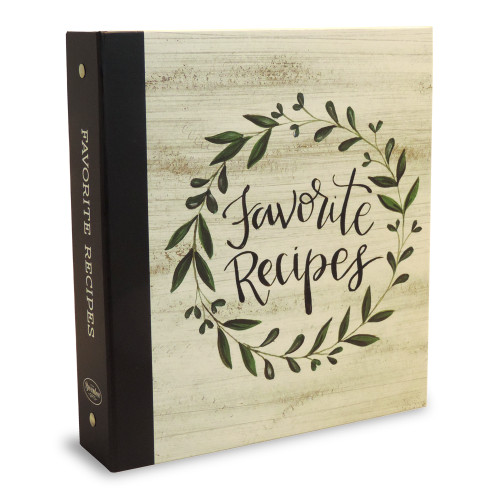 Half Page Recipe Card Binder-Vintage Kitchen