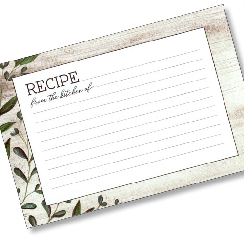 4x6 Recipe Card -Vintage Kitchen 36ea