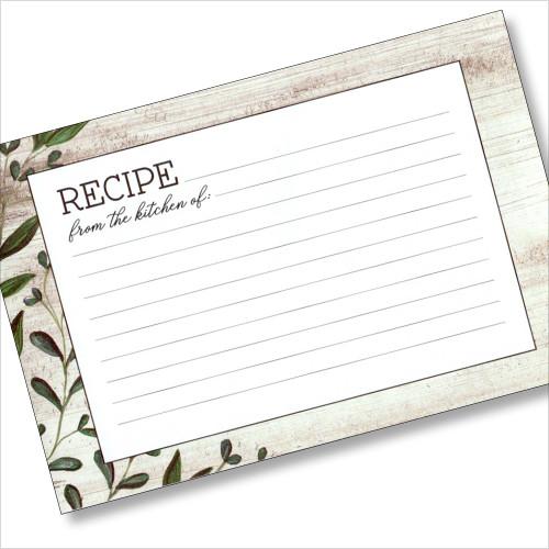 4x6 Recipe Card -Vintage Kitchen 36ea