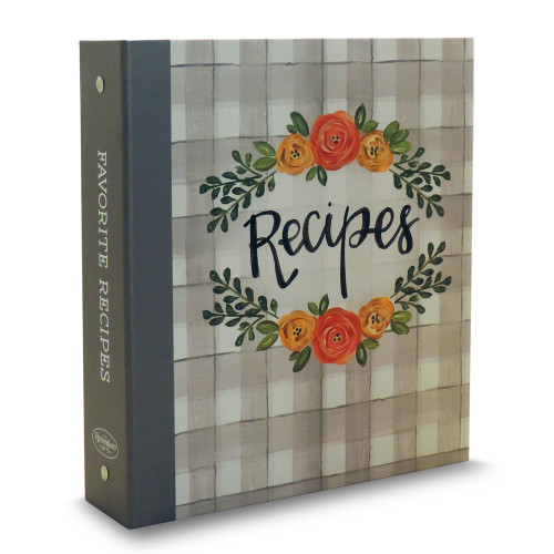 Half Page Recipe Card Binder - Floral Delight