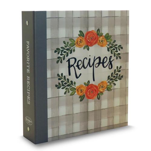Half Page Recipe Card Binder - Floral Delight