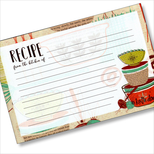 4x6 Recipe Card - Made with Love 36ea