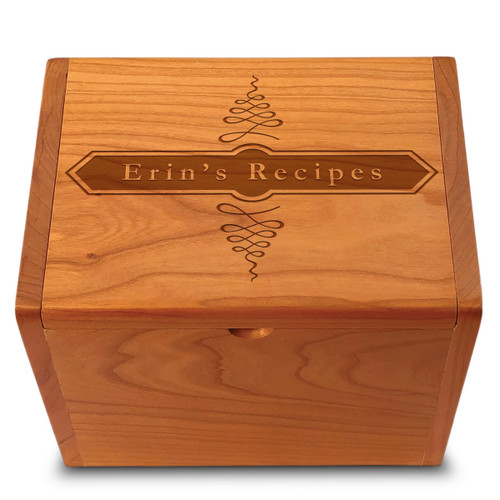 Apothecary Cherry Personalized 4x6 Recipe Card Box