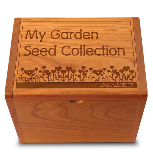 Garden Love Cherry Personalized 4x6 Recipe Card Box