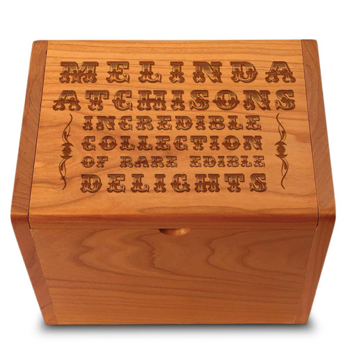 Incredible Collection Cherry Personalized 4x6 Recipe Card Box