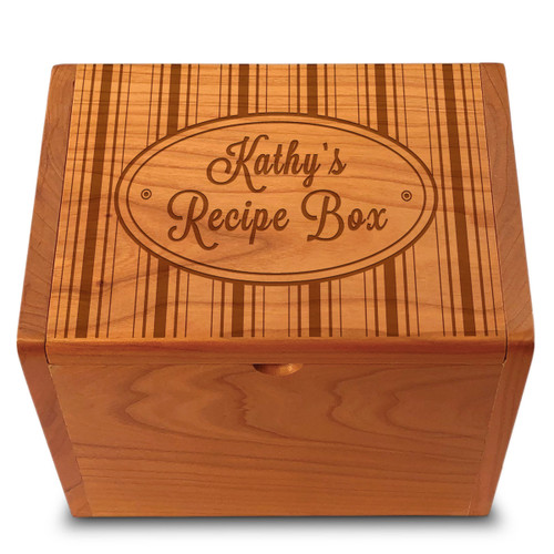 Collection Hat Box Cherry Personalized 4x6 Recipe Card Box