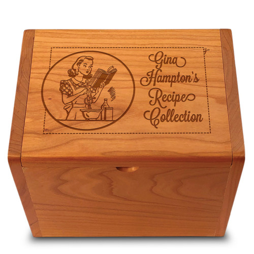 Collection Miss Mixer Cherry Personalized 4x6 Recipe Card Box