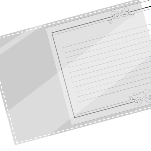 3x5 Recipe Card Protector Cover Sleeves - 48 ea