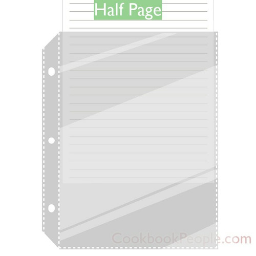 Page Protector Sleeves For Small 5.5 X 8.5in 3 Ring Binders
