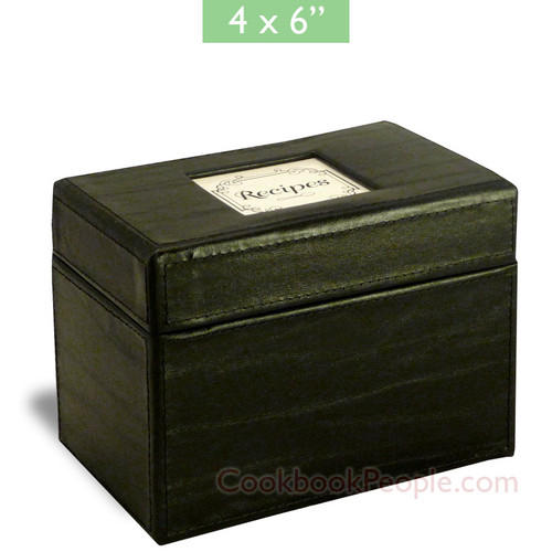 4x6 Recipe Box - Initial Gourmet Black