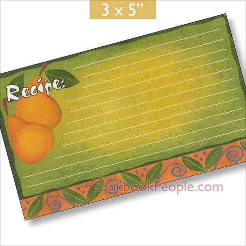 3x5 Recipe Cards with Covers - Fancy Pear