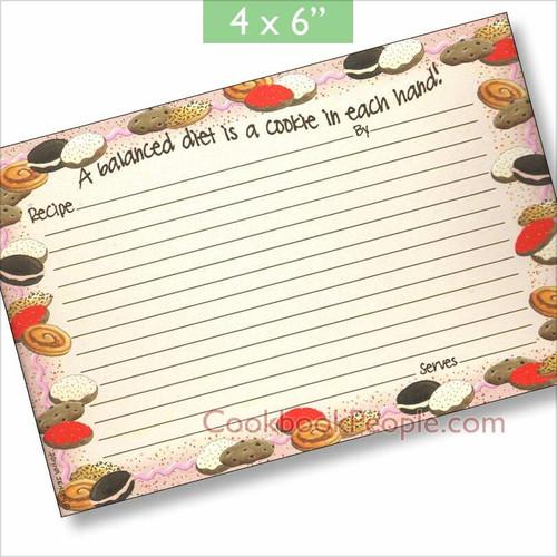4x6 Cookie Crumbles Recipe Card