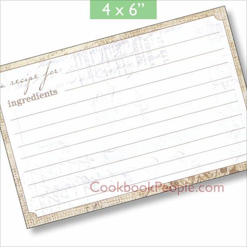 4x6 Perfect Setting Recipe Card 40ea