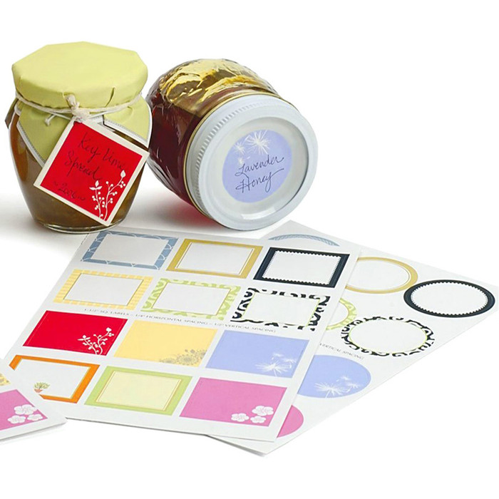 Jar or Tin Gift Labels - Round & Square Variety