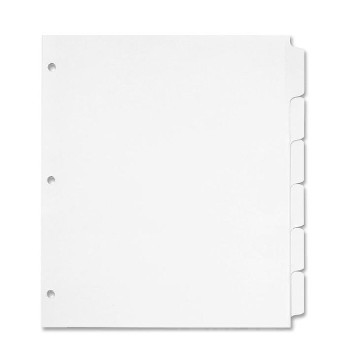 Full Page Cookbook Tab Dividers - 6 tabs ea