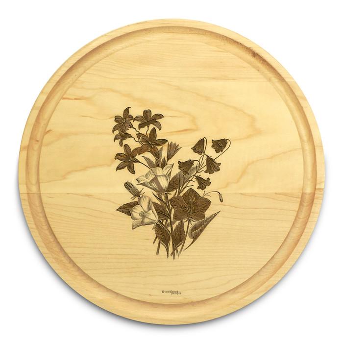 Bellflower 10in Circular Cutting Board Maple Made in USA