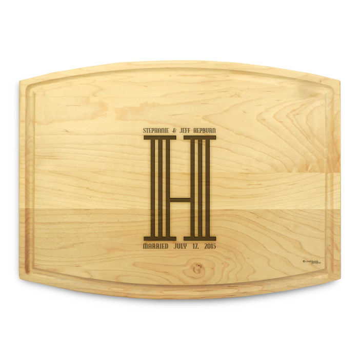 Columns 9x12 Grooved Custom Cutting Board