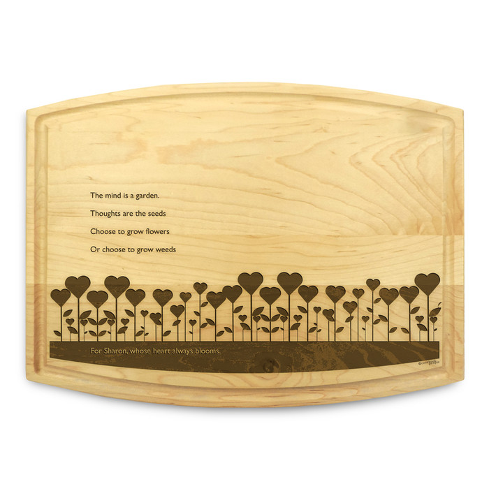 Garden Love 9x12 Grooved Cutting Board